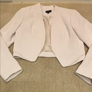 Top shop light pink cropped blazer